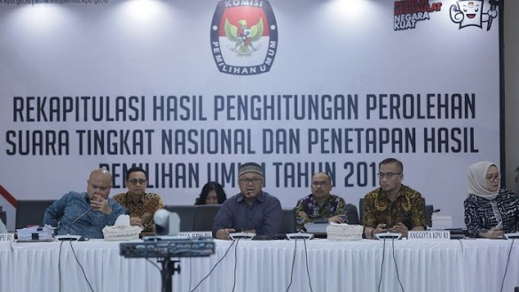 Selesai! Ini Hasil Rekapitulasi Nasional Pilpres 2019 di 34 Provinsi