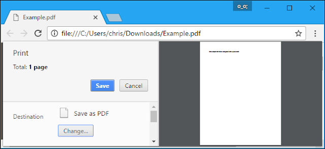 Chrome PDF printer