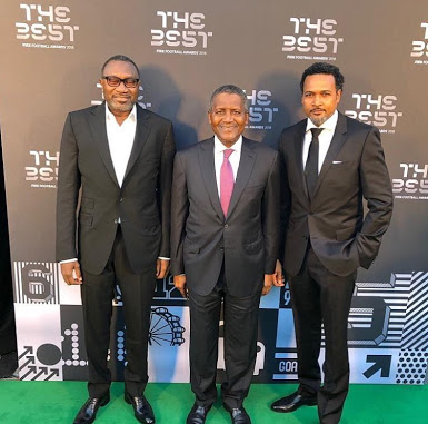 Billionaires , Otedola, Dangote Spotted At FIFA Best Awards