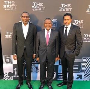 Billionaires , Otedola, Dangote Spotted At FIFA Best Awards