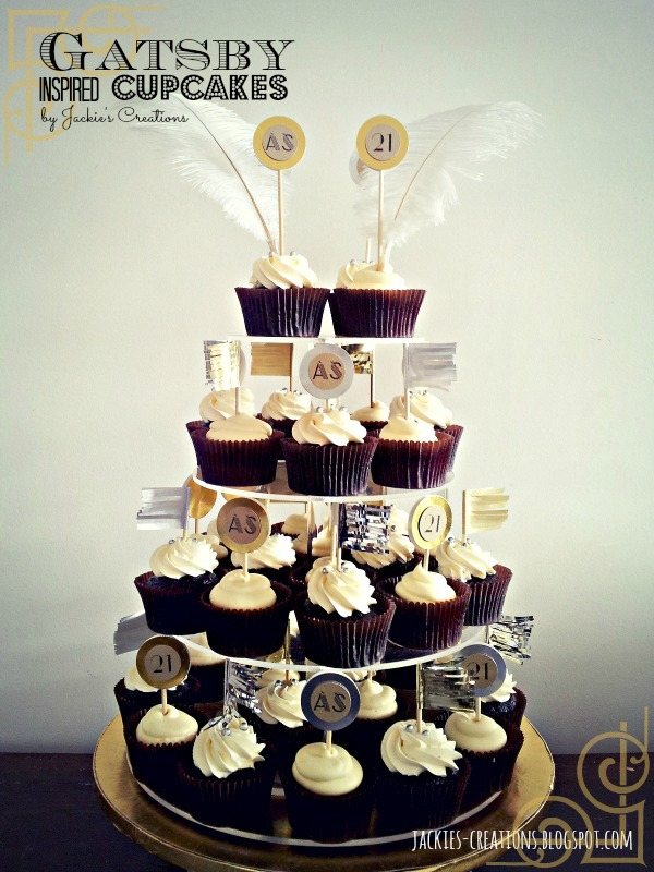 Jackie S Creations Gatsby Inspired 21st Birthday Cupcakes