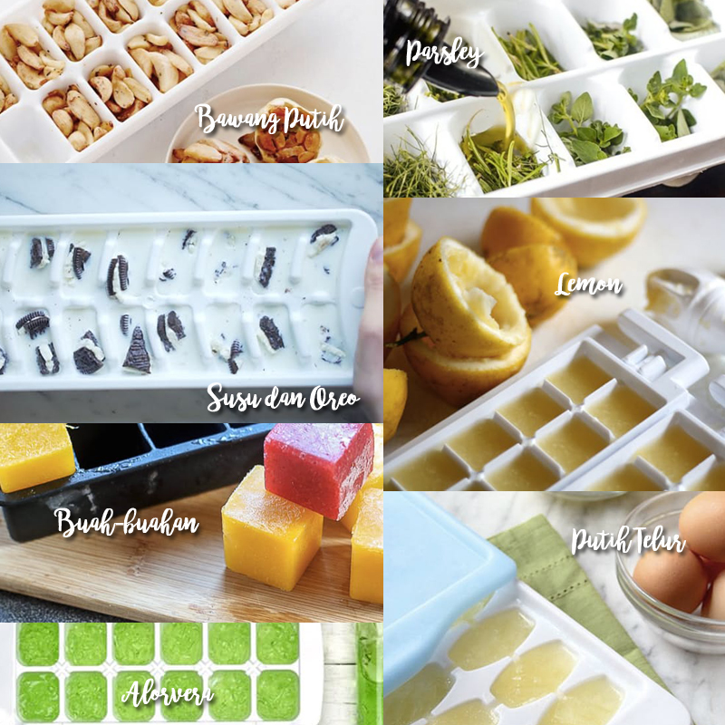 7 Cara menarik yang boleh dibuat dalam dulang ais kiub!