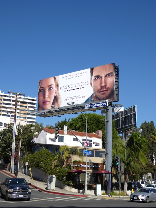 Passengers movie billboard