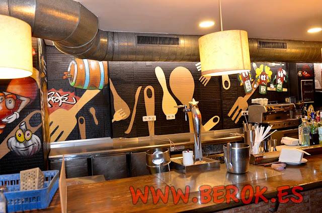 Murales pintados para restaurante
