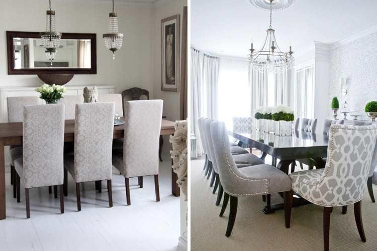 Marzua tipos de sillas de comedor para elegir la m s adecuada for Decoracion sillas tapizadas