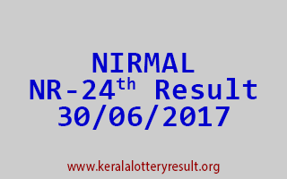 NIRMAL Lottery NR 24 Results 30-6-2017