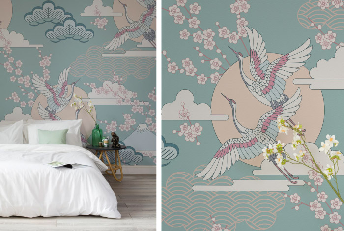 Carte Da Parati Oriental Glamour Dettagli Home Decor