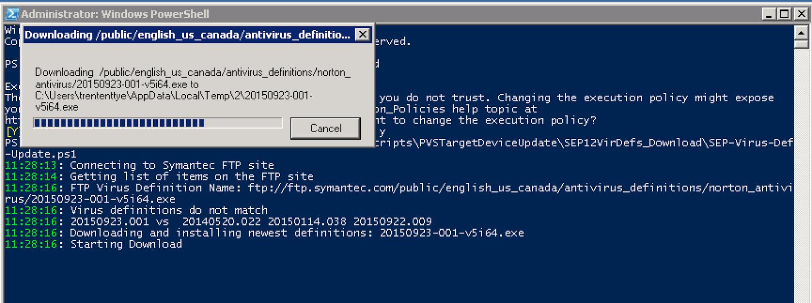 Symantec Endpoint Protection (SEP) 12 virus definition