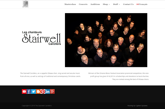 Stairwell Carollers Official website