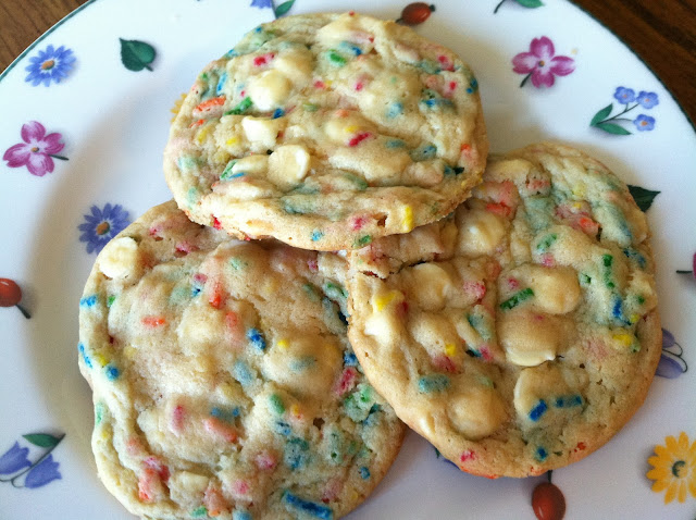 Birthday Cake White Chocolate Pudding Cookies