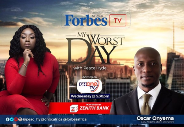 """Video: """"We thought we were going to die!"""" NSE CEO Oscar Onyema on Forbes Africa TV My Worst Day with Peace Hyde"""