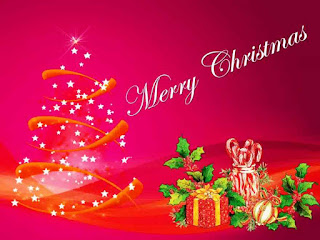 Kartu Ucapan Natal Merry Christmas 8004