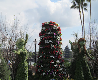anna and elsa topiary frozen