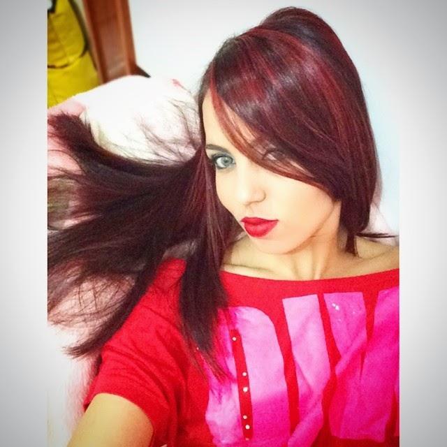cabelo vermelho, red hair, mechas vermelhas