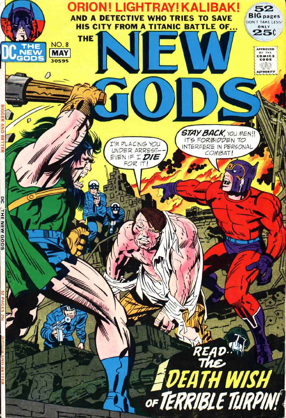 New Gods v1 #8 dc bronze age comic book cover art by Jack Kirby