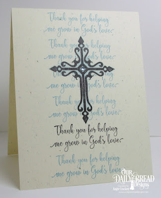 ODBD Sunday School Teacher, ODBD Custom Crosses Dies, Card Designer Angie Crockett