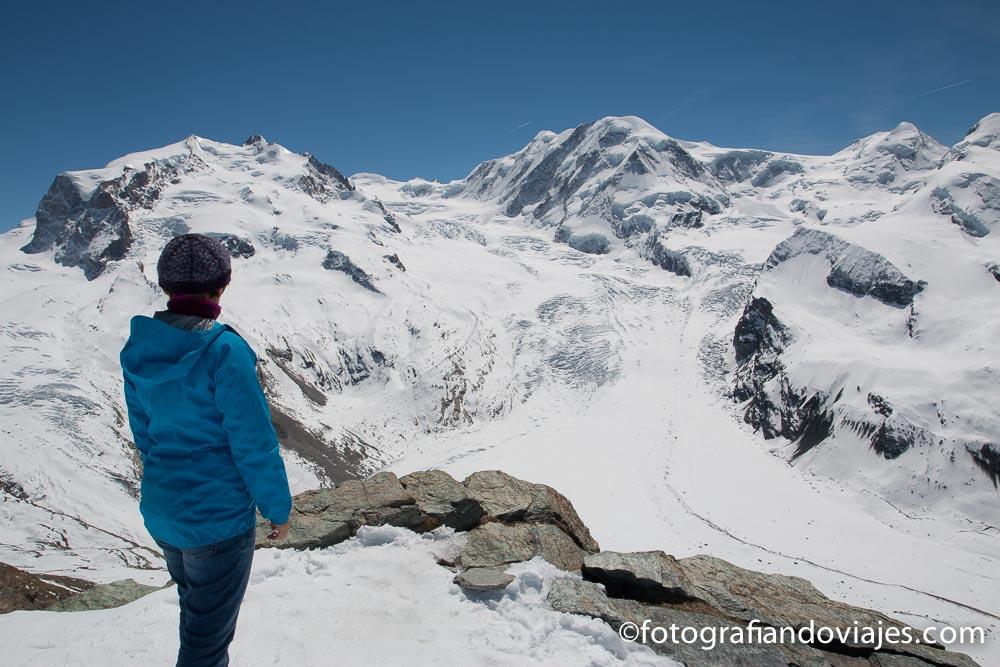 Glaciares desde Gornergrat, Zermatt