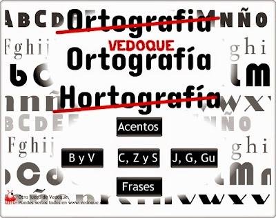 """""""Ortografía Vedoque"""" (Juegos ortográficos de Educación Primaria)"""