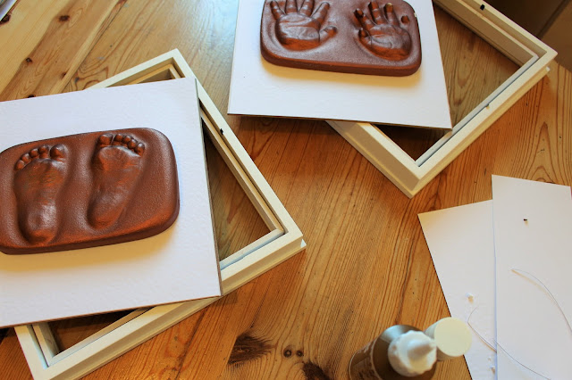 baby foot and hand castings