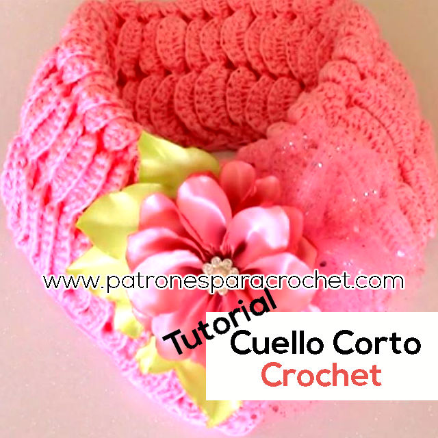 como tejer cuello corto a crochet tutorial en video