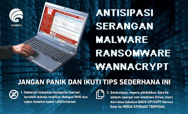 Cara mencegah dan mengatasi serangan Virus Malware Ransomware Wannacrypt