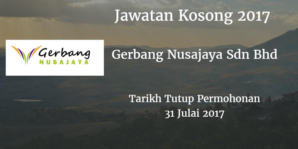 Jawatan Kosong Gerbang Nusajaya Julai 2017