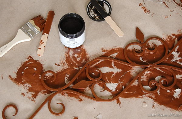 Get the perfect rusty finish with Modern Masters Metal Effects. - Littlehouseoffour.com