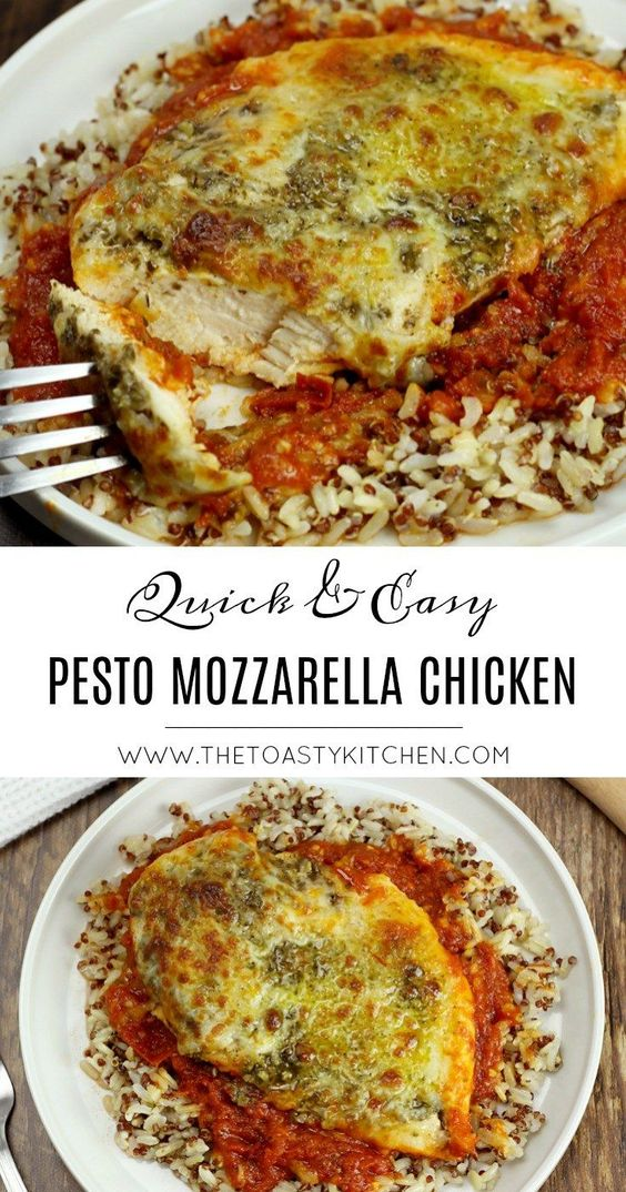 Easy Pesto Mozzarella Chicken