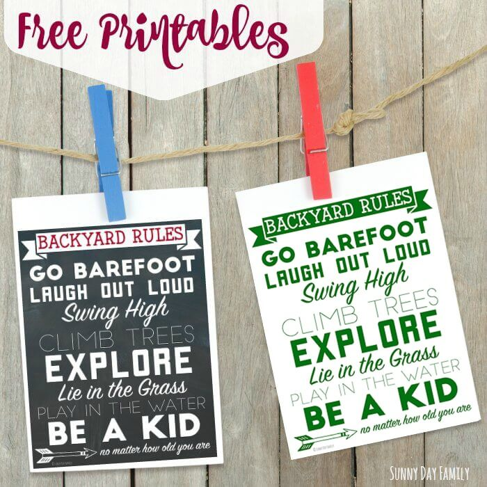 The Best Summer Rules Printable for Backyard Fun Sunny Day Family