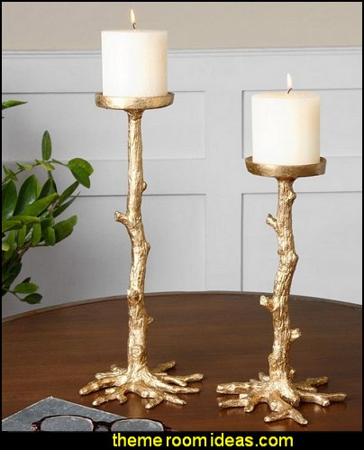 Maple Gold Candleholders