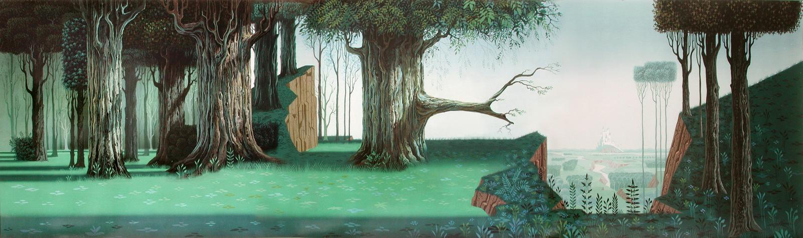 Eyvind Earle Art Gallery: Eyvind Early Sleeping Beauty Art ...