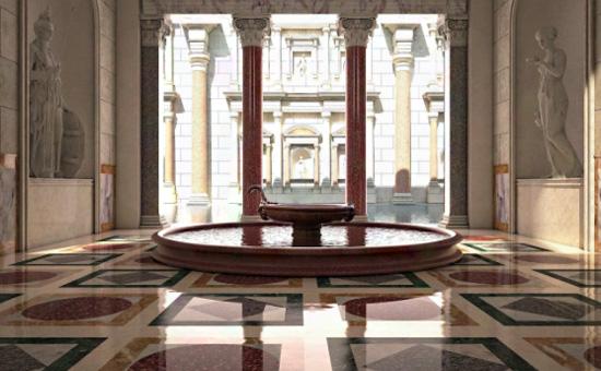 Risultati immagini per romanoimpero terme di caracalla