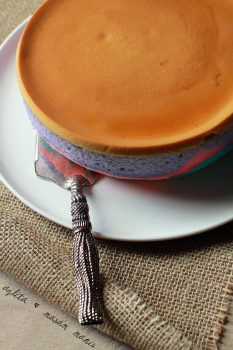 sajian resepi kek karamel pelangi azlita aziz foody bloggers Resepi Kek Lapis Azlita Enak dan Mudah