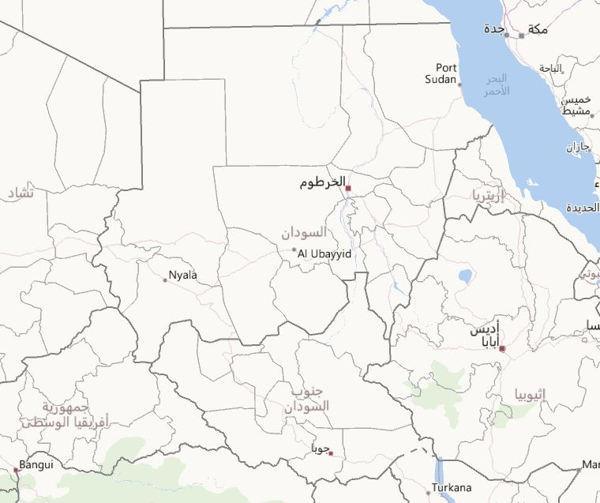 خريطة السودان Sudan Map