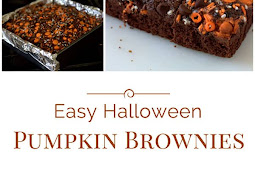 HALLOWEEN PUMPKIN BROWNIES
