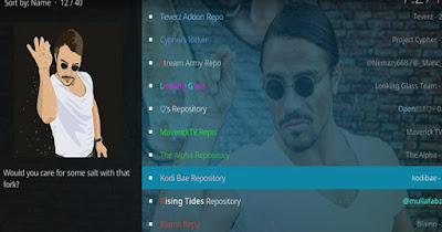 Open Kodi Bae Repository option