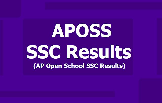 APOSS SSC 2019 Results /AP Open school SSC Results 2019