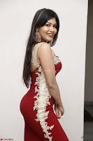 Rachana Smit in Red Deep neck Sleeveless Gown at Idem Deyyam music launch ~ Celebrities Exclusive Galleries 060.JPG