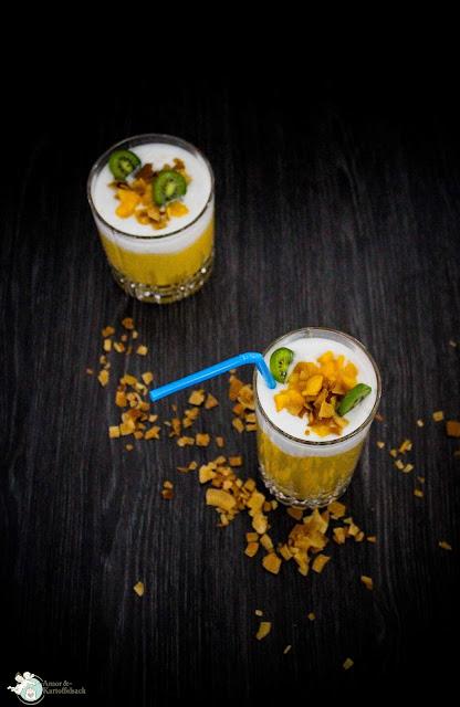 Mango Kokos Milchshake vegan