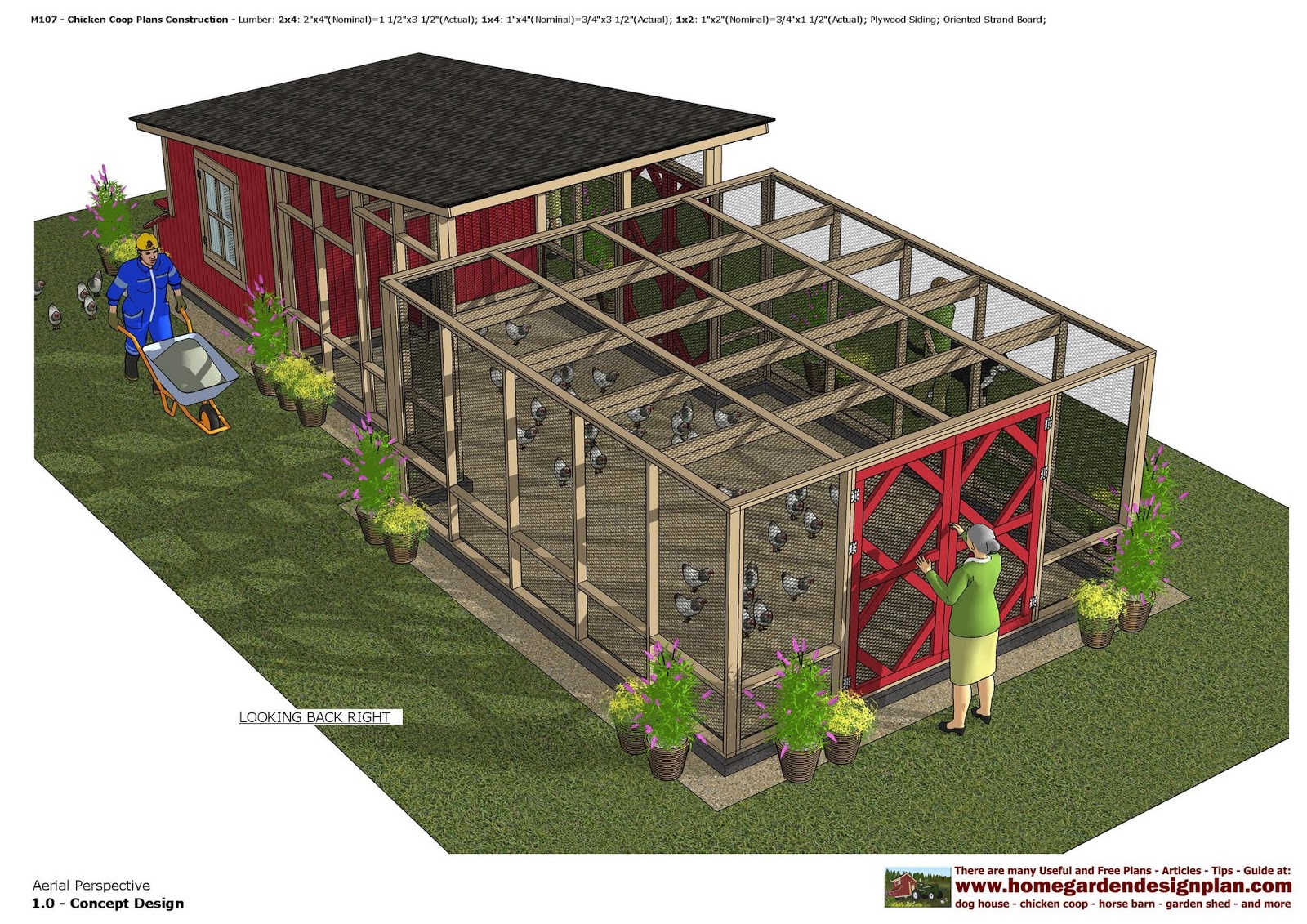 m107 chicken coop plans construction chicken coop design how to build a chicken coop - Chicken Co Op Plans And Greenhouse