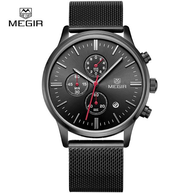 Megir Mesh Band Watch