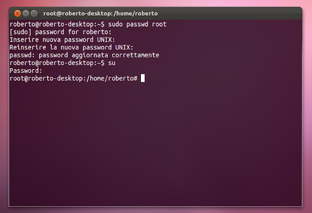 Ubuntu: Enable and Disable Root password
