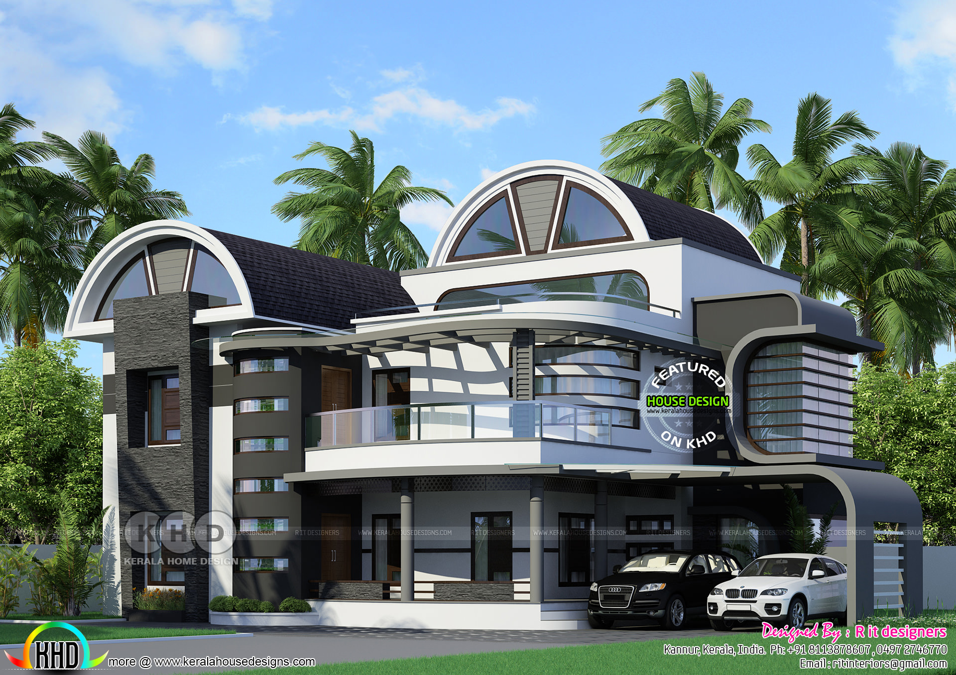Half Round Roof Unique Kerala Home Design Kerala Home