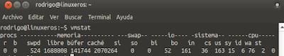 Verificar el consumo del memoria en Linux - vmstat