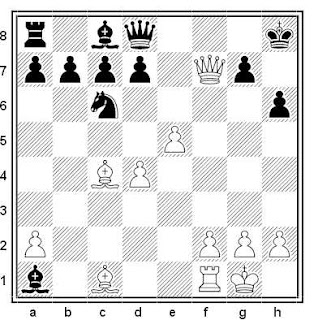 Posición de la partida de ajedrez Felner - Bankcroft (Estados Unidos, 1960)