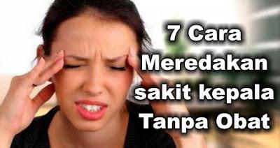 7 Cara Meredakan sakit kepala Tanpa Obat