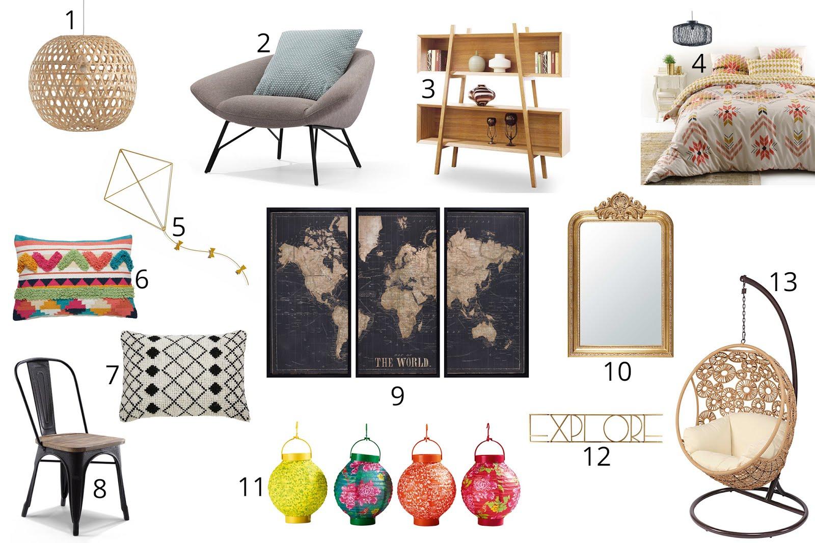 Sélection shopping décoration blog lifestyle