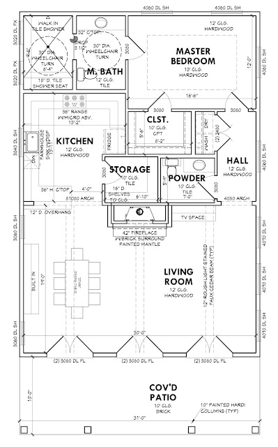 Floor plan layout for independent living