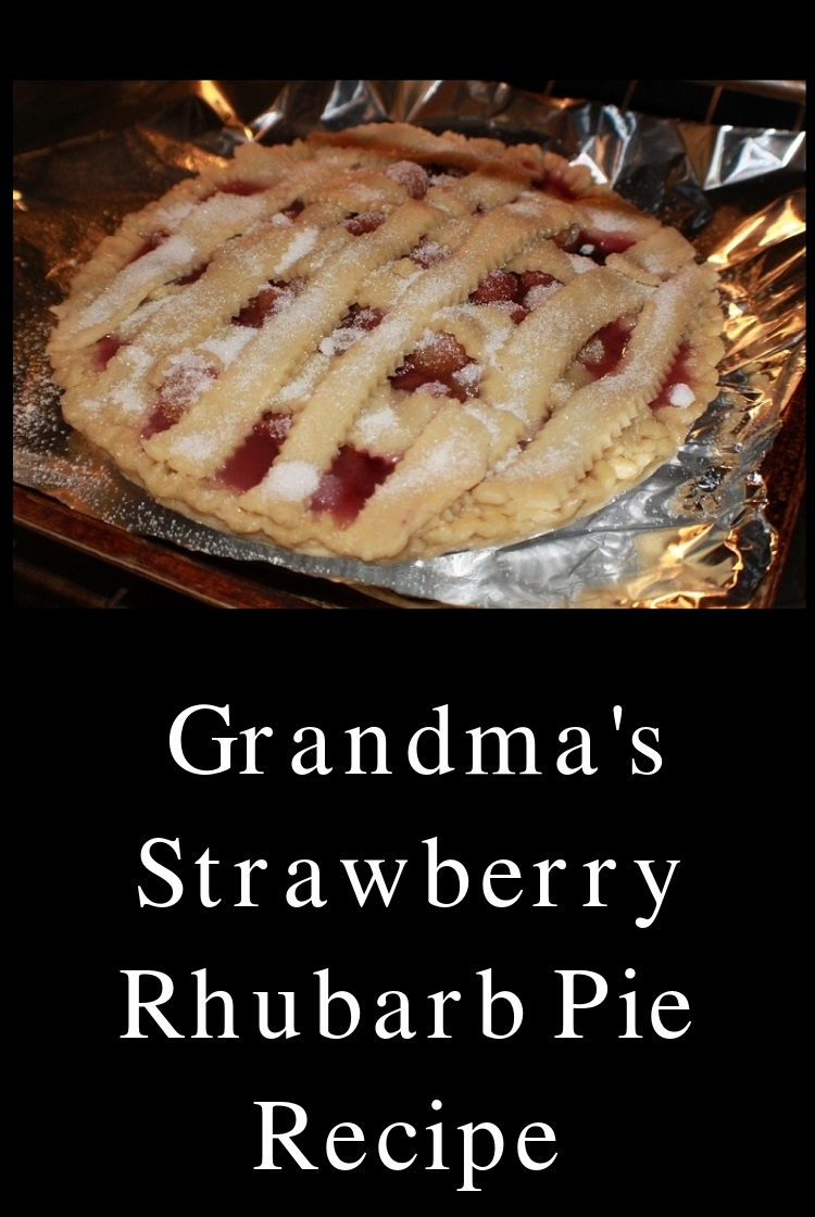 The perfect and Best strawberry rhubarb pie made from scratch the crust is homemade pie dough and the filling is all made with fresh ingredients. The pie has sugar on top and lattice  all homemade from scratch and how to make the crust and best rhubard strawberry pie recipe