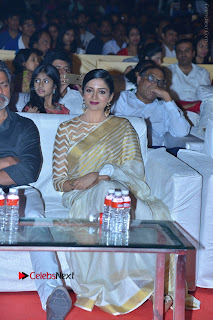 Actress Vimala Raman Stills in White Silk Saree at Om Namo Venkatesaya Audio Launch Event  0001.JPG
